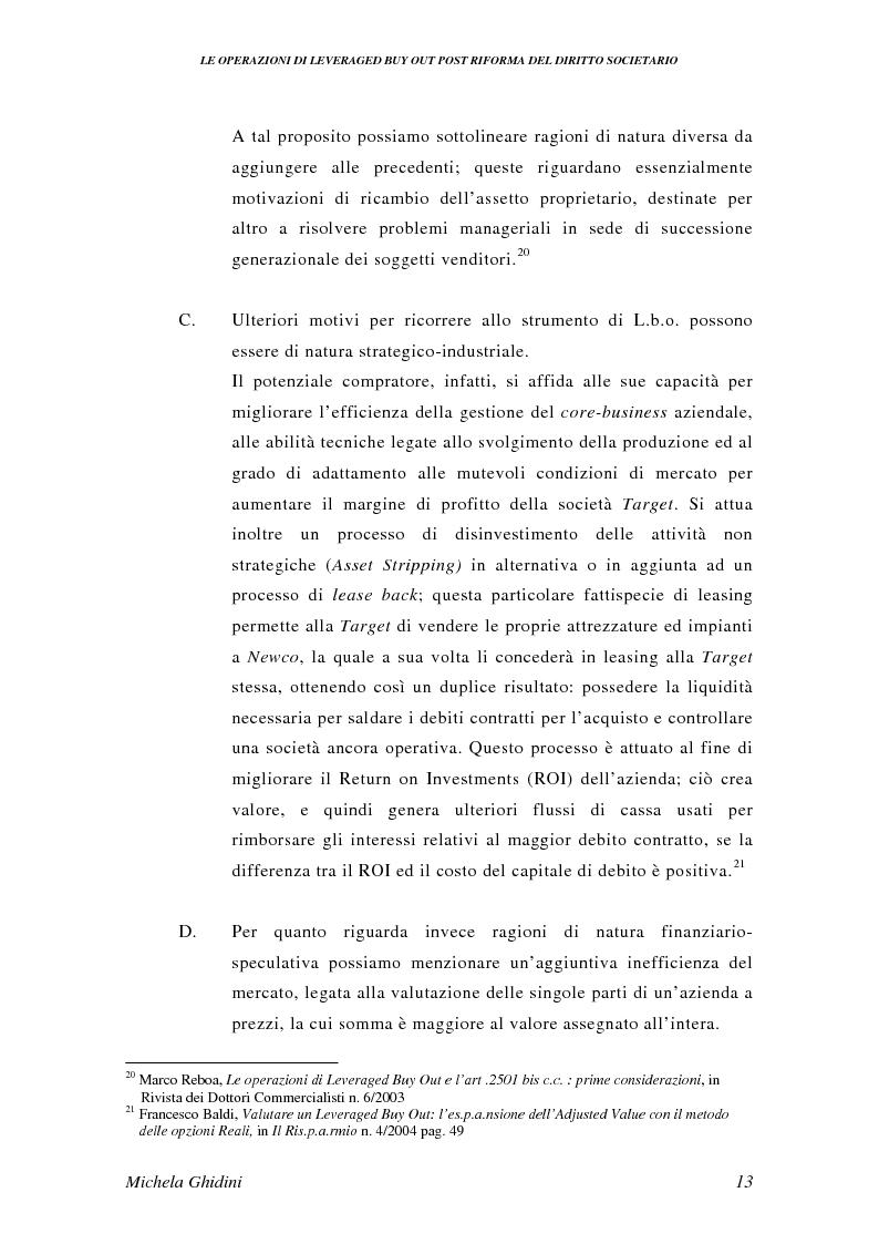 Anteprima della tesi: Le operazioni di Leveraged Buy Out post riforma del diritto societario, Pagina 12