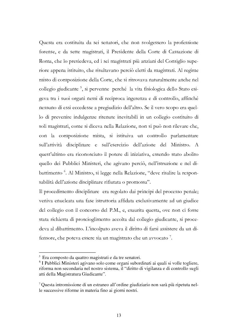 Anteprima della tesi: Il procedimento disciplinare dei magistrati, Pagina 13