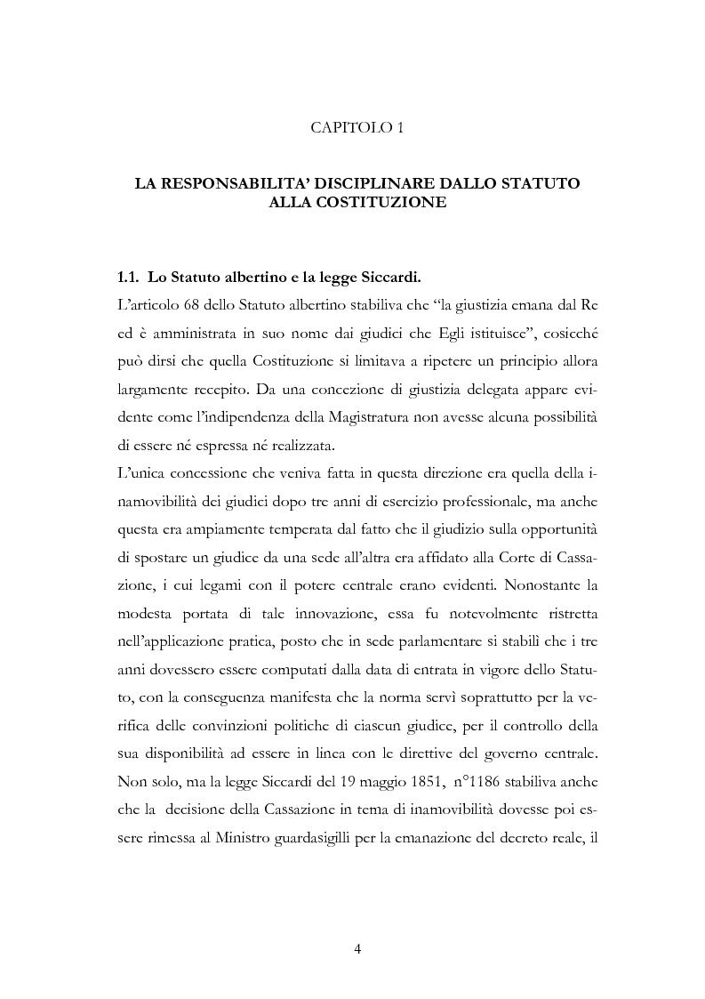 Anteprima della tesi: Il procedimento disciplinare dei magistrati, Pagina 4