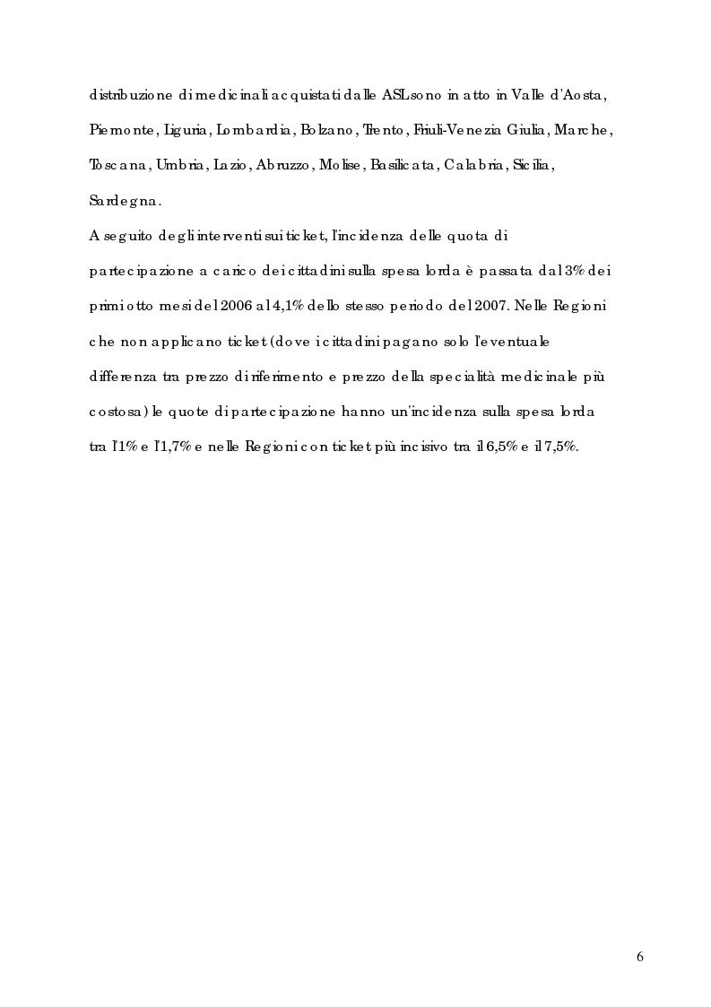 Anteprima della tesi: Induzione della spesa farmaceutica e continuità terapeutica nell'Asl Vallecamonica Sebino: dal File F alla prescrizione sul territorio, Pagina 4