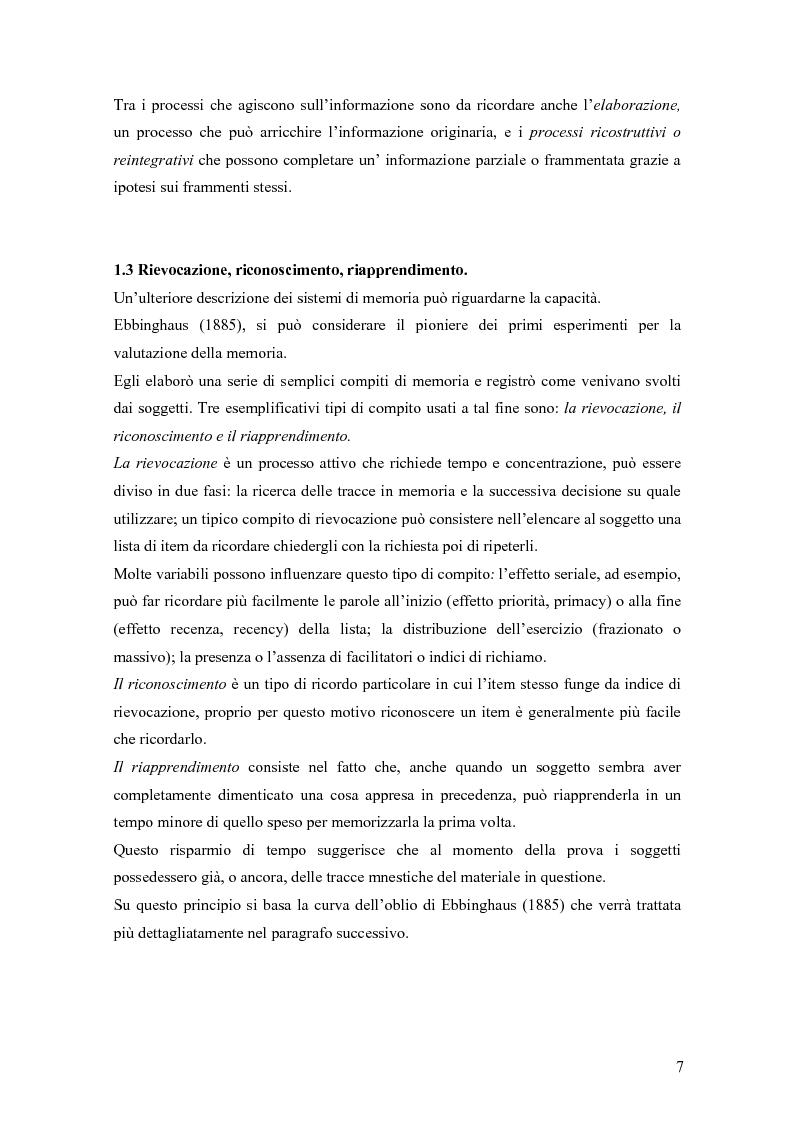 Anteprima della tesi: Verifica dell'efficacia della stimolazione luminosa intermittente nel potenziare la memoria nell'invecchiamento, Pagina 4