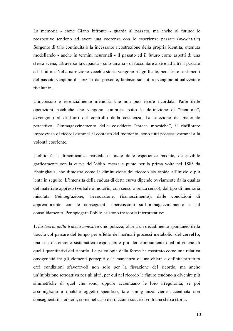 Anteprima della tesi: Verifica dell'efficacia della stimolazione luminosa intermittente nel potenziare la memoria nell'invecchiamento, Pagina 7