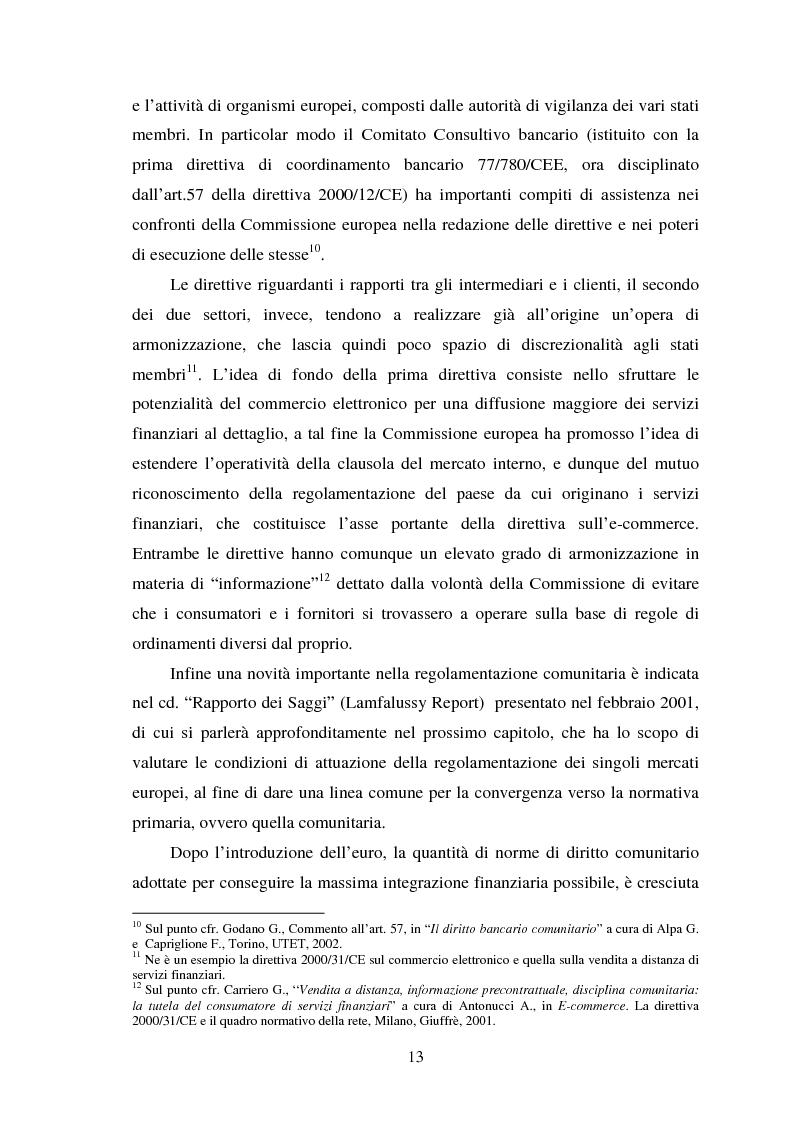 Anteprima della tesi: Assetti organizzativi e prospettive evolutive della vigilanza sui sistemi finanziari, Pagina 12