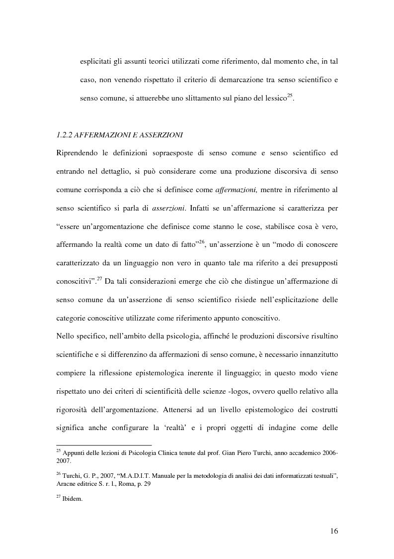 Anteprima della tesi: Un confronto fra le autoattribuzioni prodotte da due gruppi di consumatori di sostanze psicotrope/stupefacenti considerate illegali, in diversi contesti terapeutici, Pagina 10