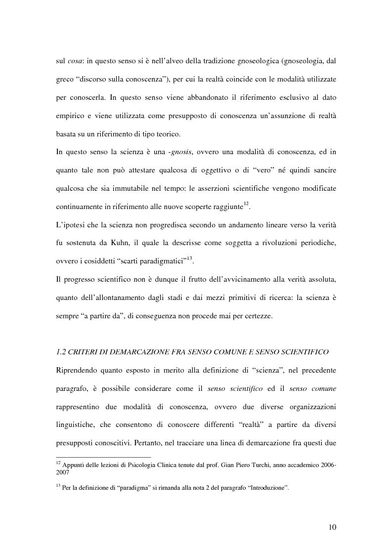 Anteprima della tesi: Un confronto fra le autoattribuzioni prodotte da due gruppi di consumatori di sostanze psicotrope/stupefacenti considerate illegali, in diversi contesti terapeutici, Pagina 4