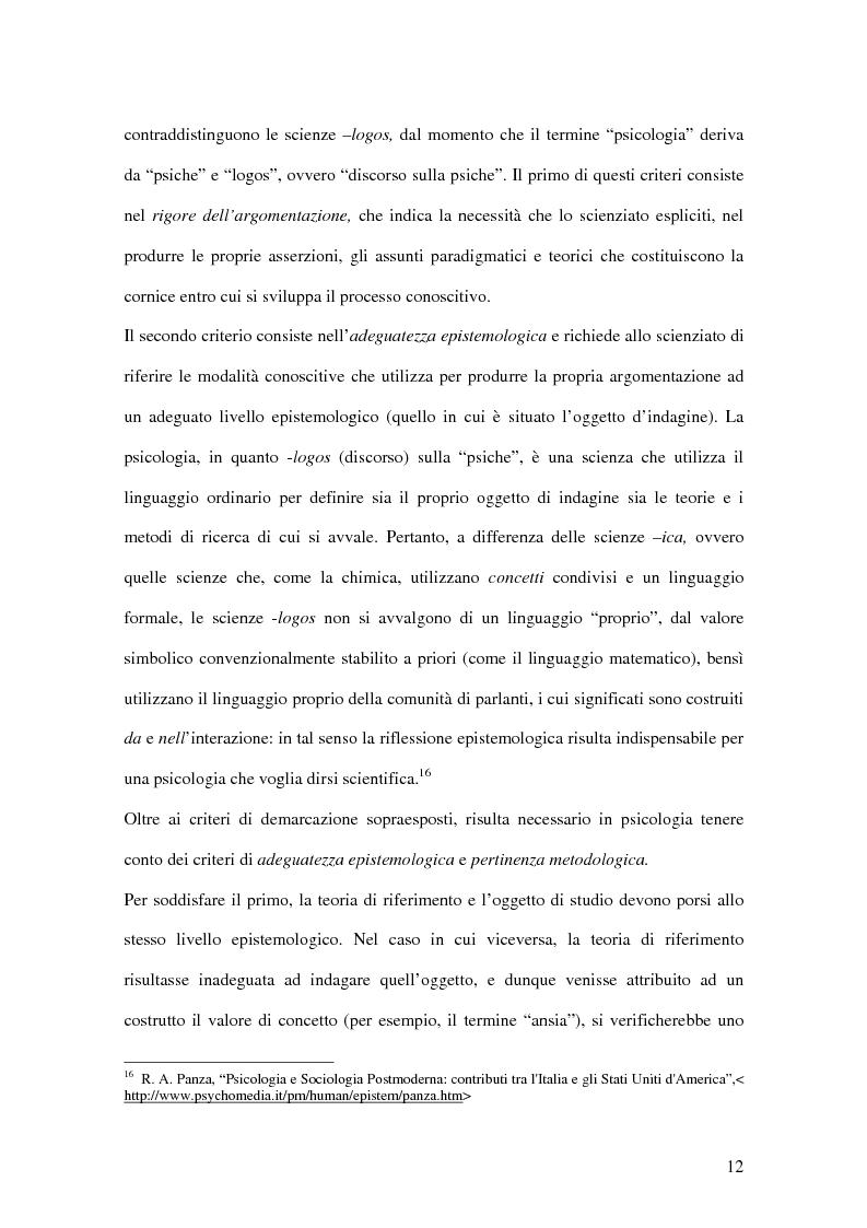 Anteprima della tesi: Un confronto fra le autoattribuzioni prodotte da due gruppi di consumatori di sostanze psicotrope/stupefacenti considerate illegali, in diversi contesti terapeutici, Pagina 6
