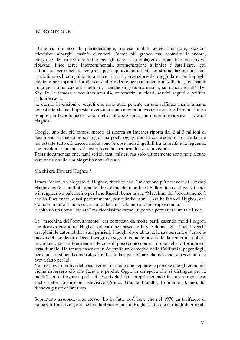 """Anteprima della tesi: Dal piccolo Leonardo al vecchio pazzo. Howard Hughes, la storia, la genialità, le invenzioni, i segreti e la """"pazzia"""" dell'uomo che dette un notevole contributo allo sviluppo della tecnologia moderna., Pagina 3"""