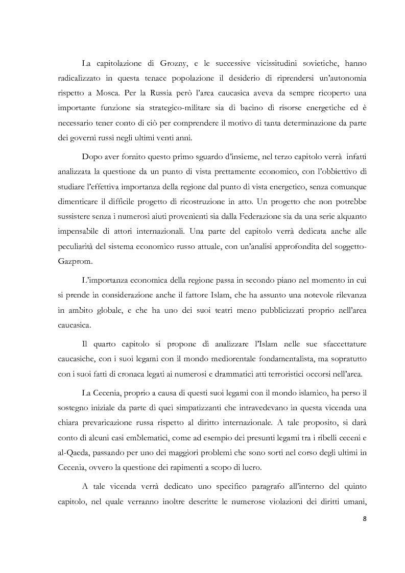 Anteprima della tesi: La Repubblica di Nokhchiin: un falso problema geoeconomico, Pagina 2