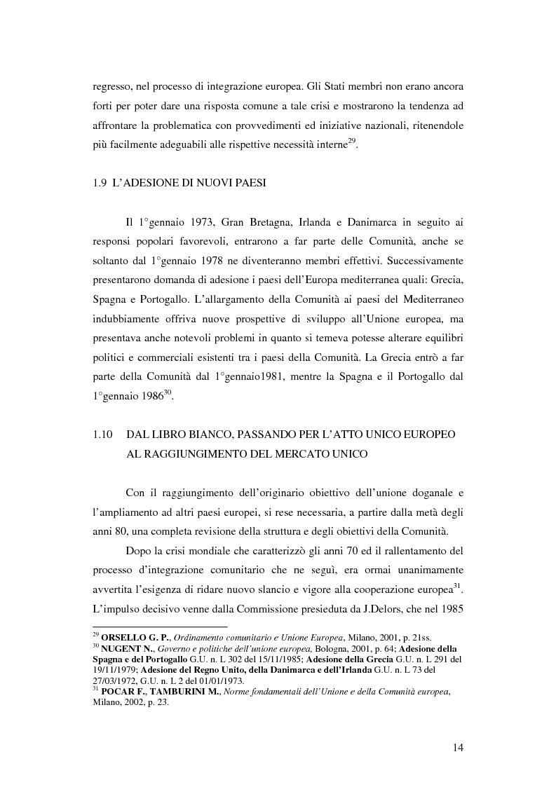 Anteprima della tesi: Gli sviluppi del bilancio comunitario a seguito dell'allargamento, Pagina 10