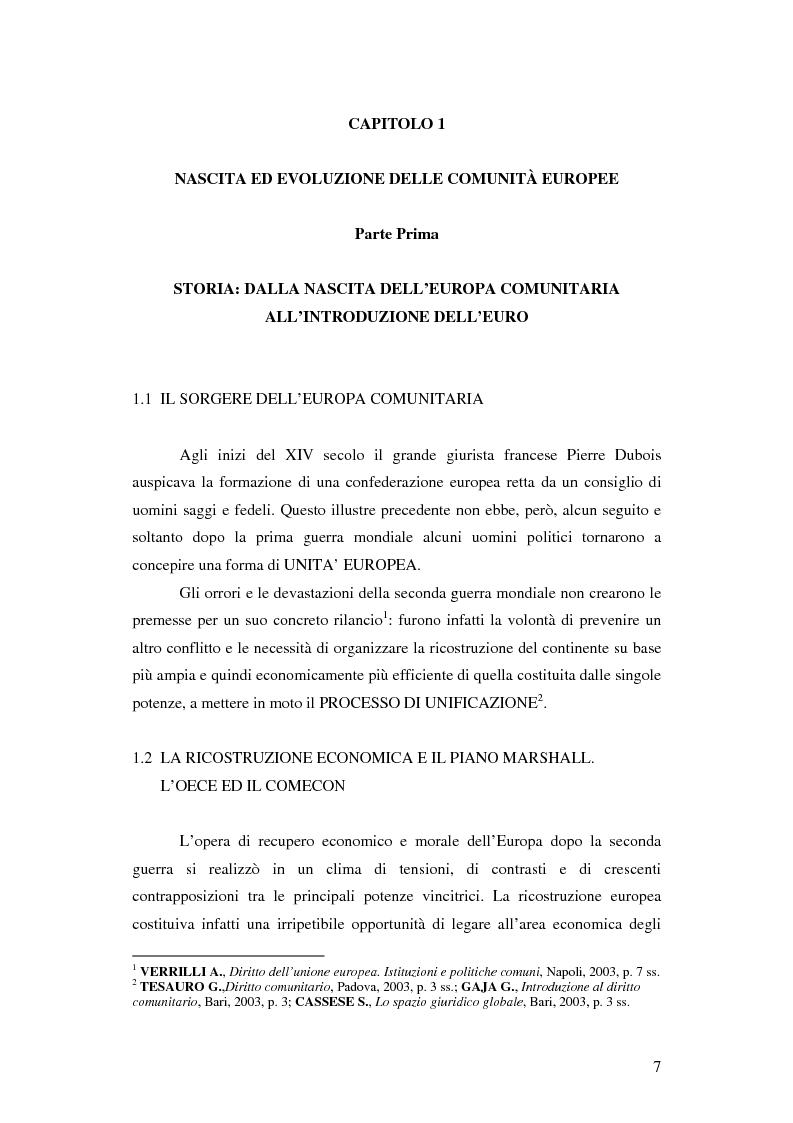 Anteprima della tesi: Gli sviluppi del bilancio comunitario a seguito dell'allargamento, Pagina 3