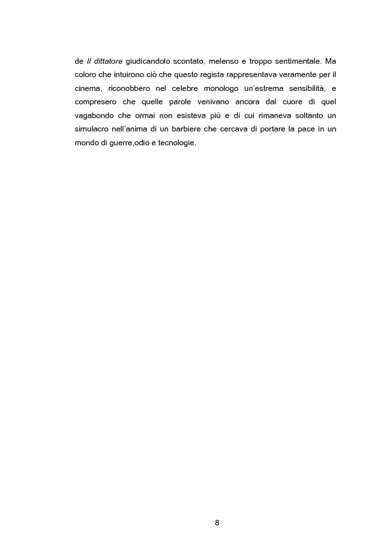 Anteprima della tesi: La metamorfosi del Vagabondo: coincidenza tra il silenzio espressivo del ''muto'' e le parole sentimentali del ''sonoro'', Pagina 5