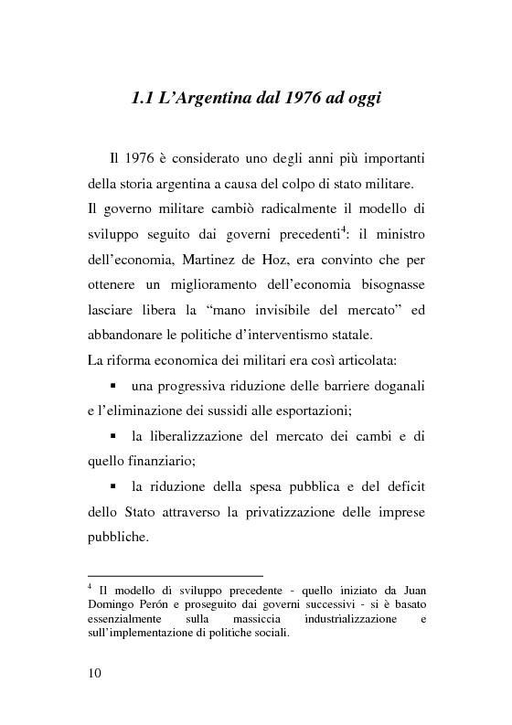 Anteprima della tesi: L'esperienza delle imprese recuperate in Argentina. Problemi e prospettive., Pagina 10