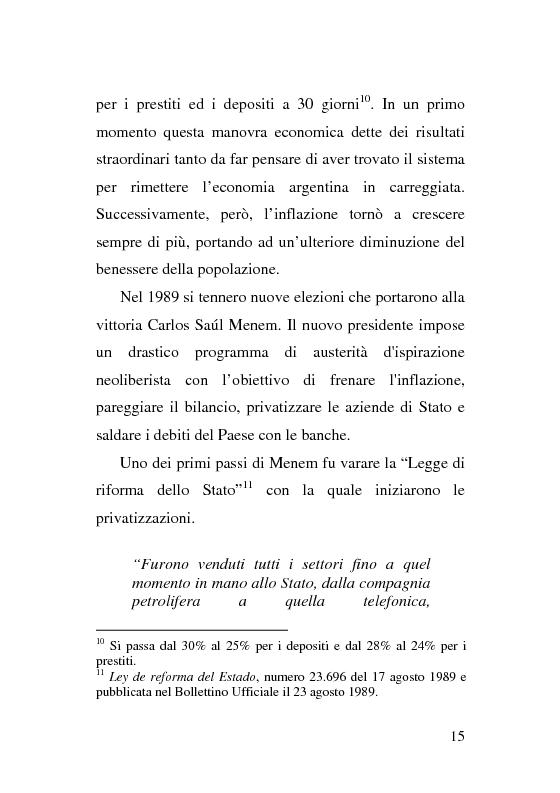 Anteprima della tesi: L'esperienza delle imprese recuperate in Argentina. Problemi e prospettive., Pagina 15