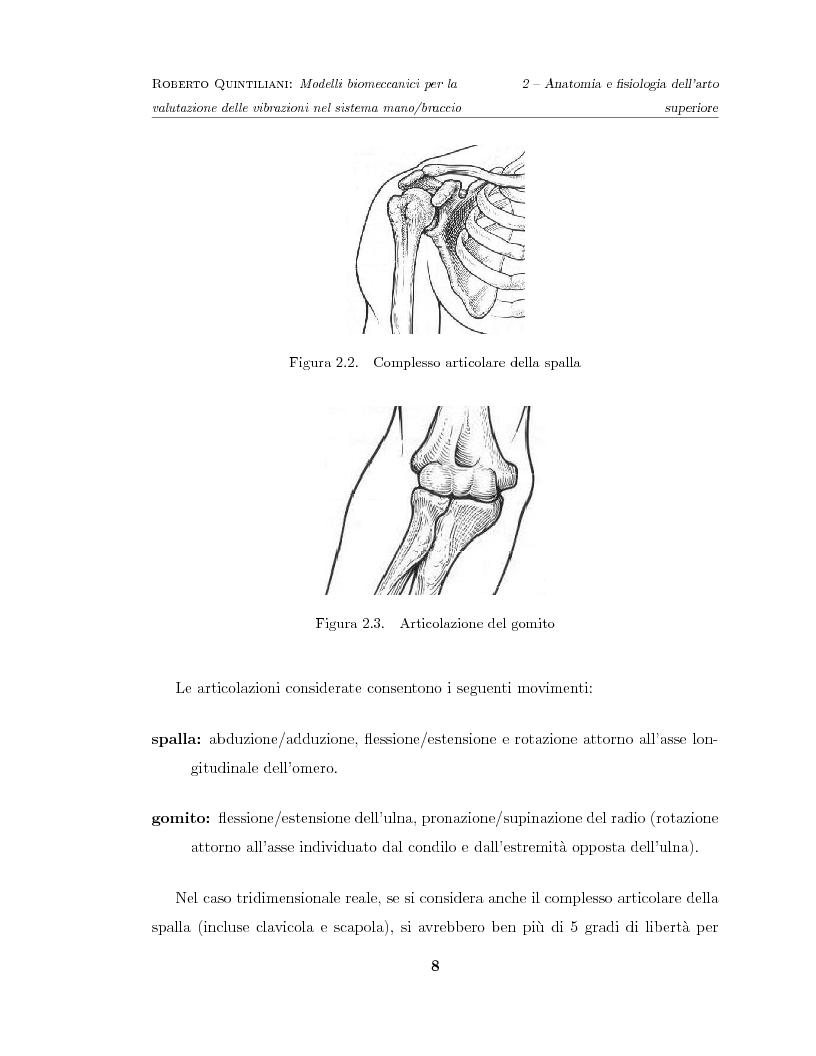 Anteprima della tesi: Modelli biomeccanici per la valutazione delle vibrazioni nel sistema mano/braccio, Pagina 8