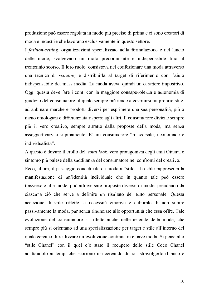 Anteprima della tesi: La presenza della moda in Internet. Un confronto tra tre aree linguistiche: italiana-inglese-spagnola., Pagina 10