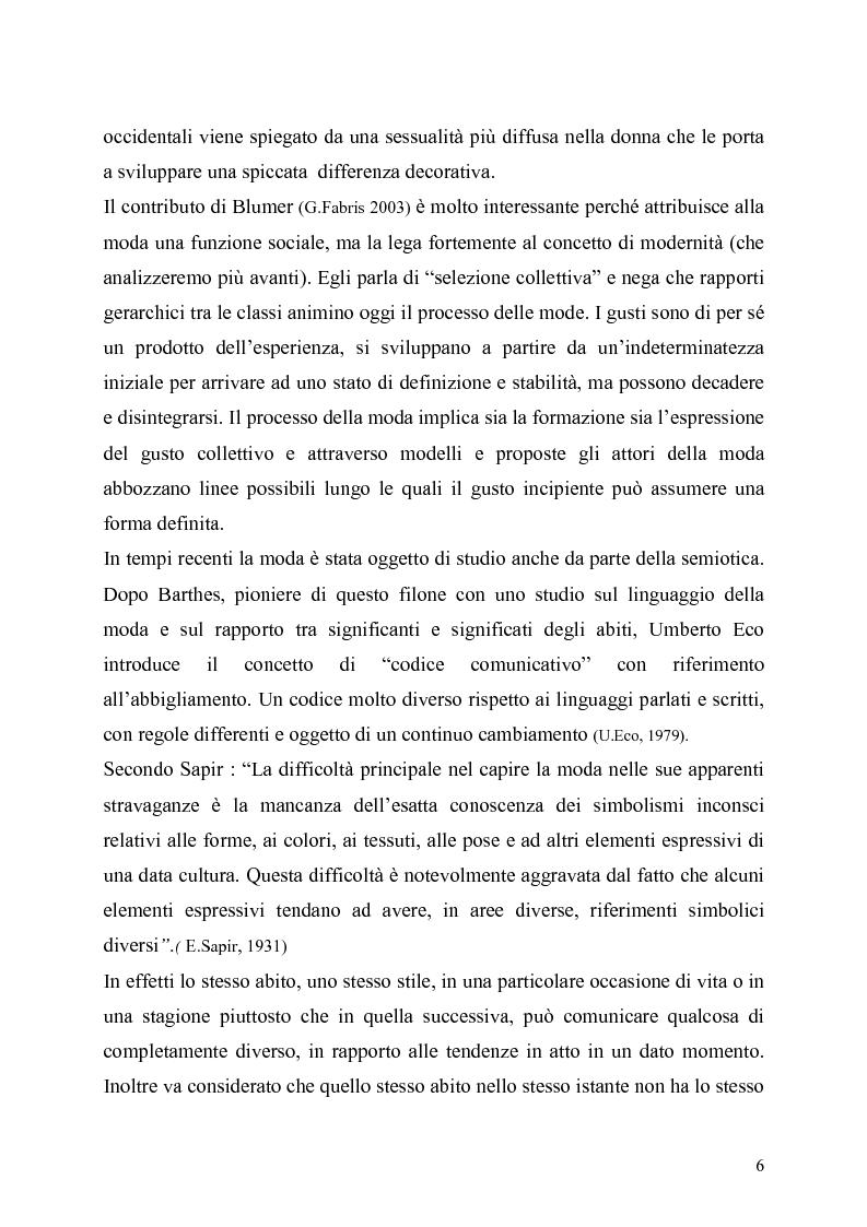 Anteprima della tesi: La presenza della moda in Internet. Un confronto tra tre aree linguistiche: italiana-inglese-spagnola., Pagina 6
