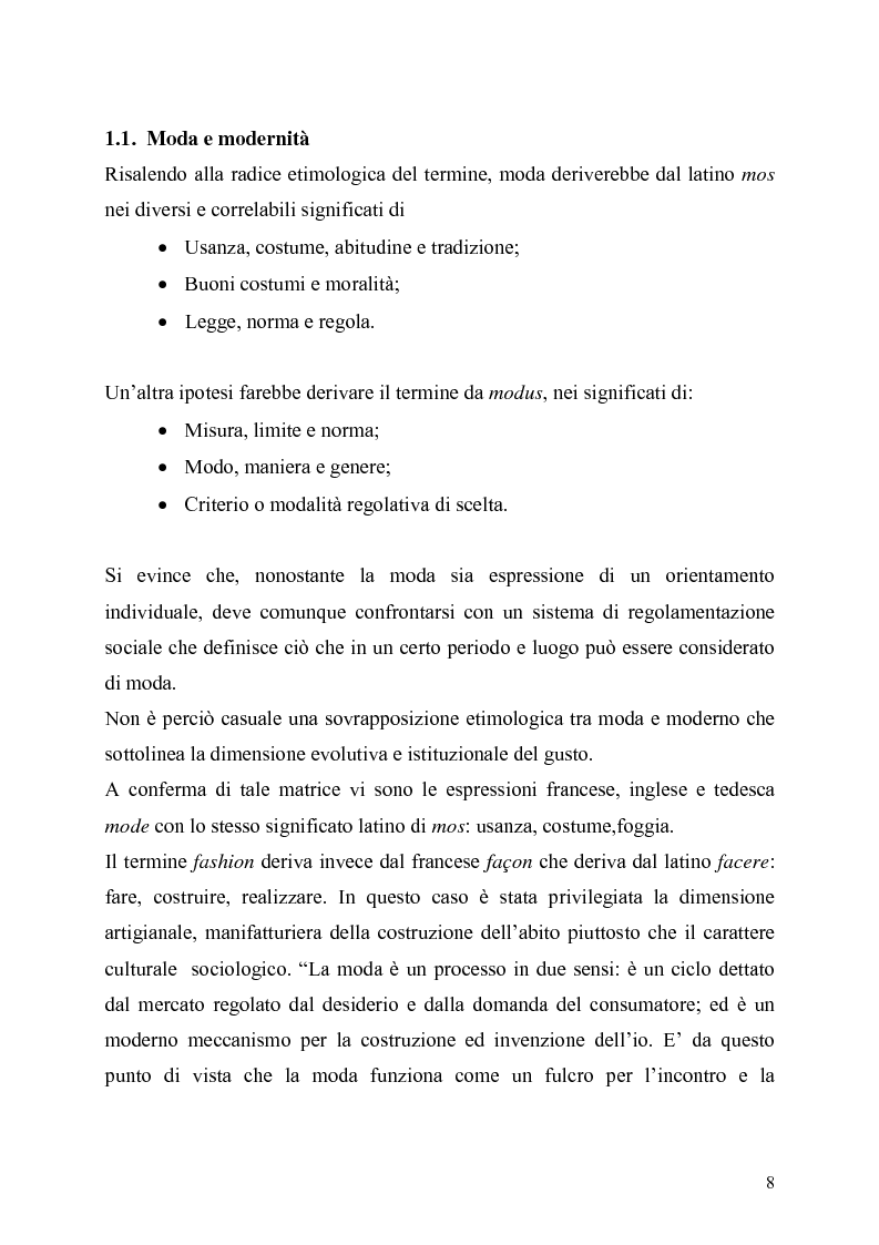Anteprima della tesi: La presenza della moda in Internet. Un confronto tra tre aree linguistiche: italiana-inglese-spagnola., Pagina 8