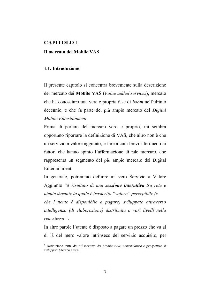 Anteprima della tesi: Le aziende che operano nel settore del Digital Mobile Entertainment, Pagina 3