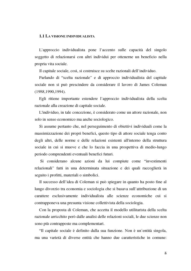 Anteprima della tesi: L'identificazione del capitale sociale: verso una tassonomia, Pagina 5
