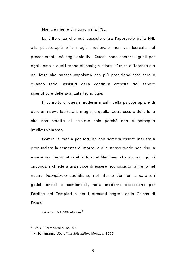 Anteprima della tesi: La fascinazione del linguaggio. Le radici della Programmazione Neurolinguistica nel Picatrix., Pagina 5