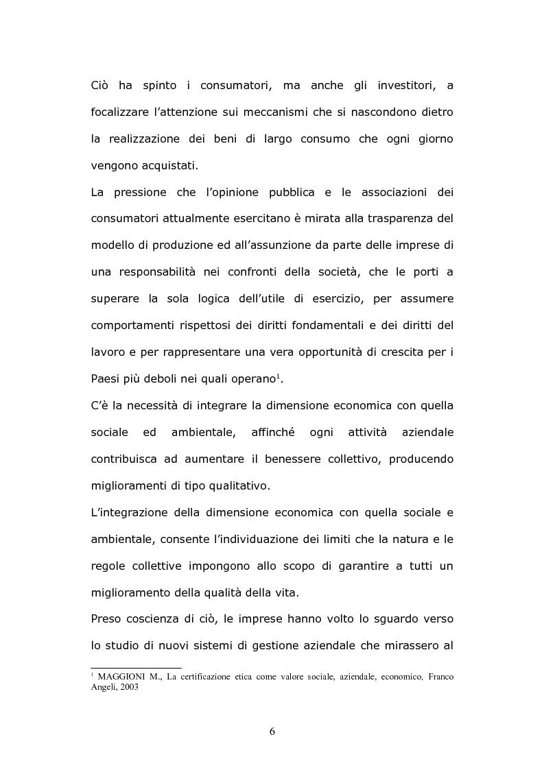 Anteprima della tesi: La certificazione etica d'impresa: sviluppi e prospettive, Pagina 6