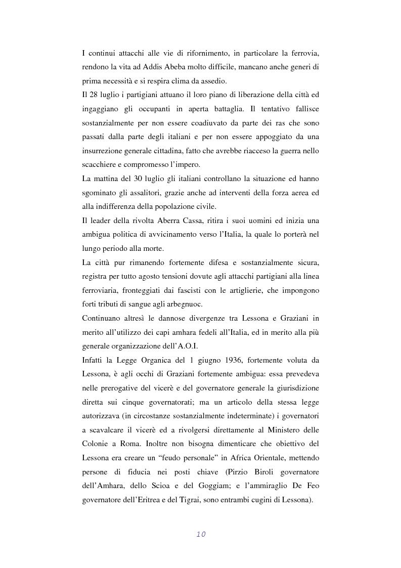 Anteprima della tesi: L'Amministrazione Coloniale Italiana in Addis Abeba 1936 - 1941, Pagina 9