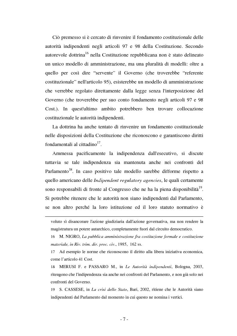 Anteprima della tesi: La responsabilità delle autorità indipendenti, Pagina 7