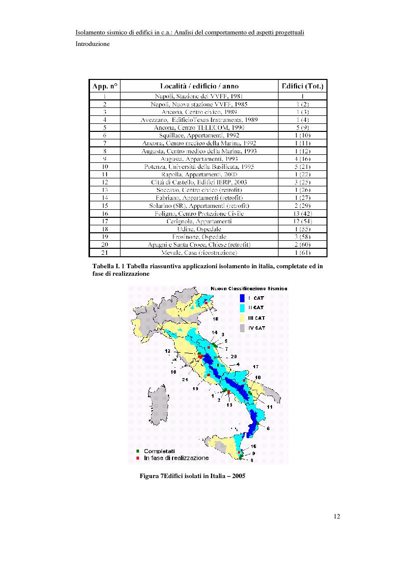 Anteprima della tesi: Isolamento sismico di edifici in C.A.: analisi del comportamento ed aspetti progettuali, Pagina 12