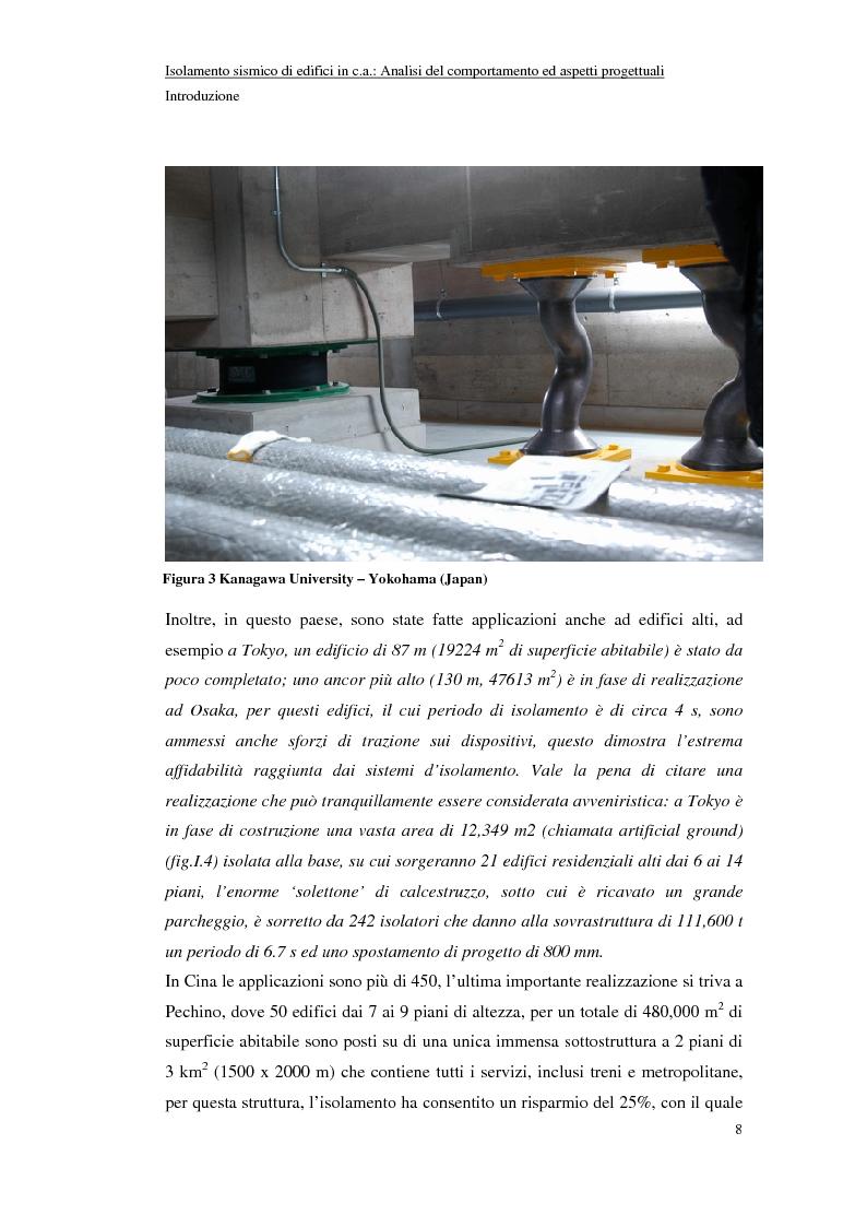Anteprima della tesi: Isolamento sismico di edifici in C.A.: analisi del comportamento ed aspetti progettuali, Pagina 8