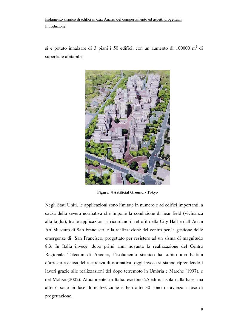 Anteprima della tesi: Isolamento sismico di edifici in C.A.: analisi del comportamento ed aspetti progettuali, Pagina 9