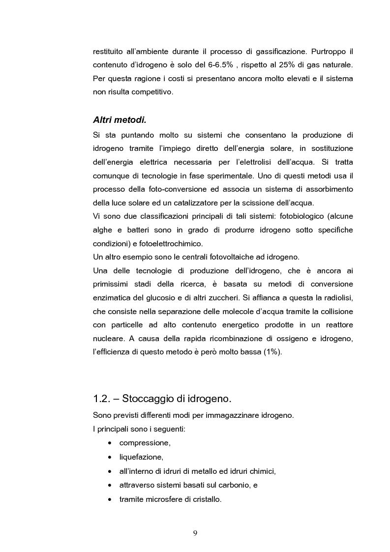 Anteprima della tesi: Conversione di energia chimica in energia elettrica tramite Fuel Cell: aspetti tecnologici ed elettrochimici, Pagina 9