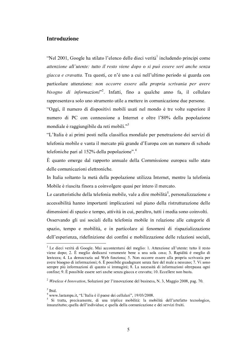 Mobile Advertising: engagement e personalizzazione dell'interazione nella comunicazione sul telefonino. I casi Enel e Ne...