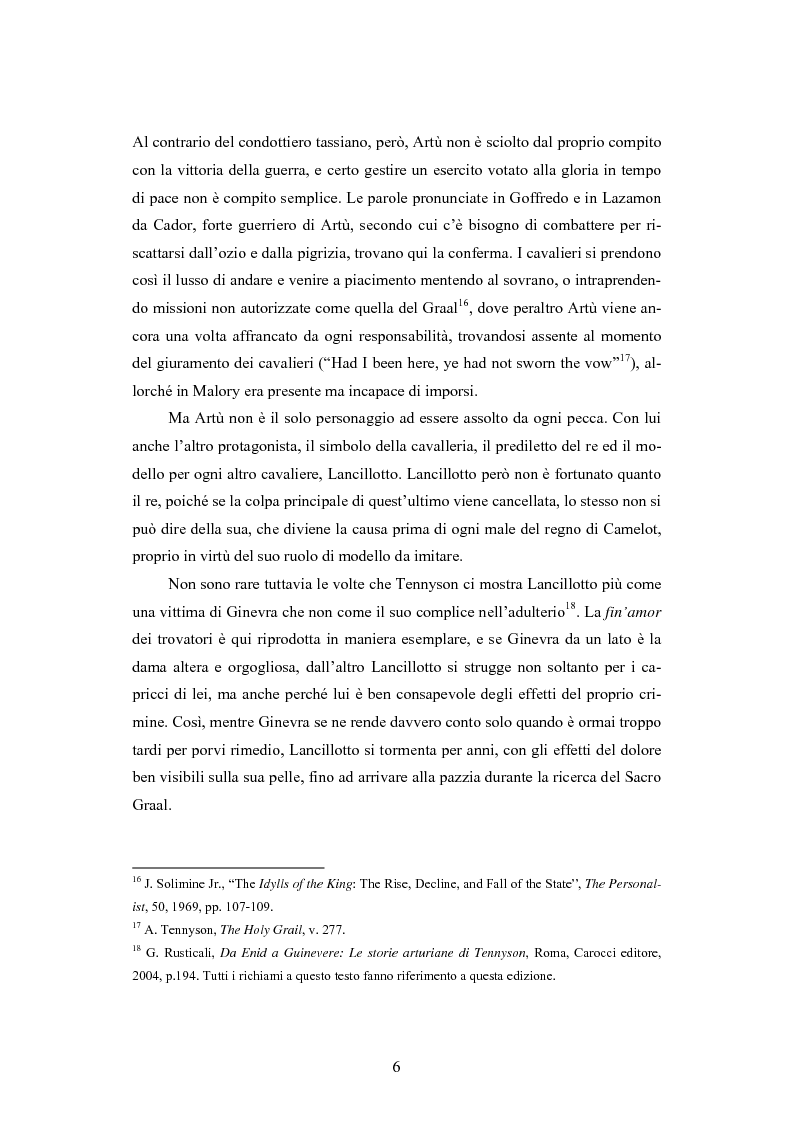 Anteprima della tesi: Gli Idylls of the King nella tradizione arturiana: nuove cause, vecchi effetti; Traduzione di: Lord Alfred Tennyson - The Coming of Arthur, Pagina 6