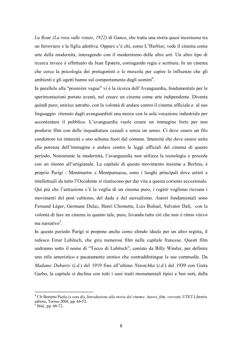 Anteprima della tesi: Fra turismo e postmodernismo: Parigi nel cinema dagli anni '80 a oggi, Pagina 6