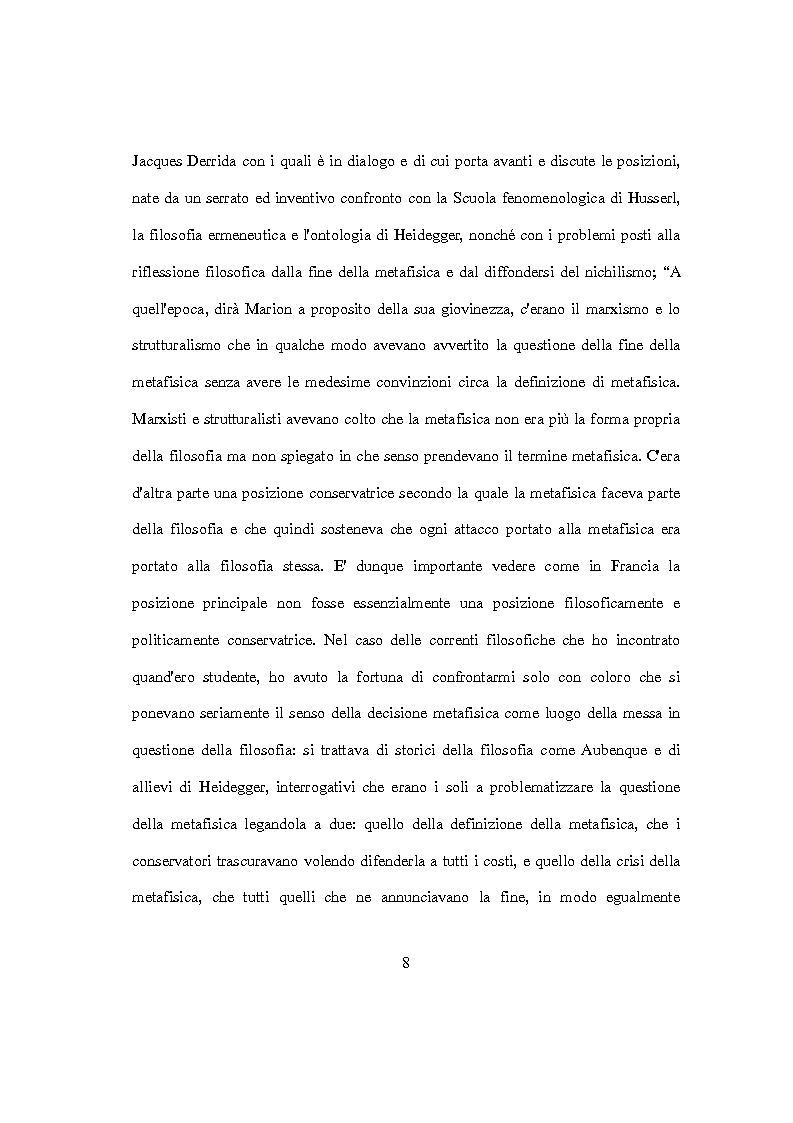 Anteprima della tesi: L'idolo e l'icona. Il visibile e il rivelato in Jean-Luc Marion, Pagina 6