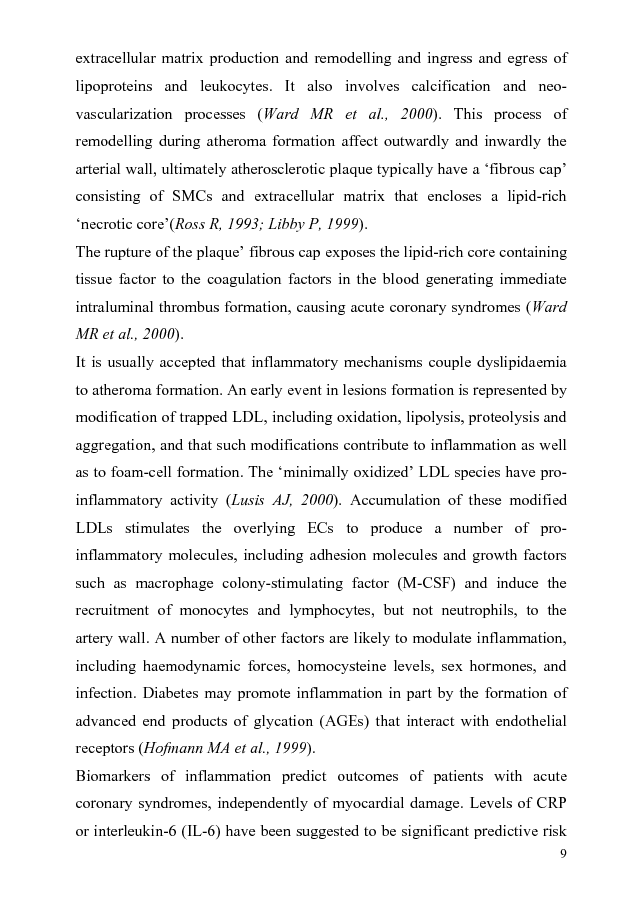 Anteprima della tesi: Genetic of Cytokines: a Tool for Understanding Age-Related Diseases. Results of case-control studies performed on Alzheimer's Disease, Atherosclerosis, Colorectal Carcinoma, Breast Cancer, Gastric Cancer, Pagina 5
