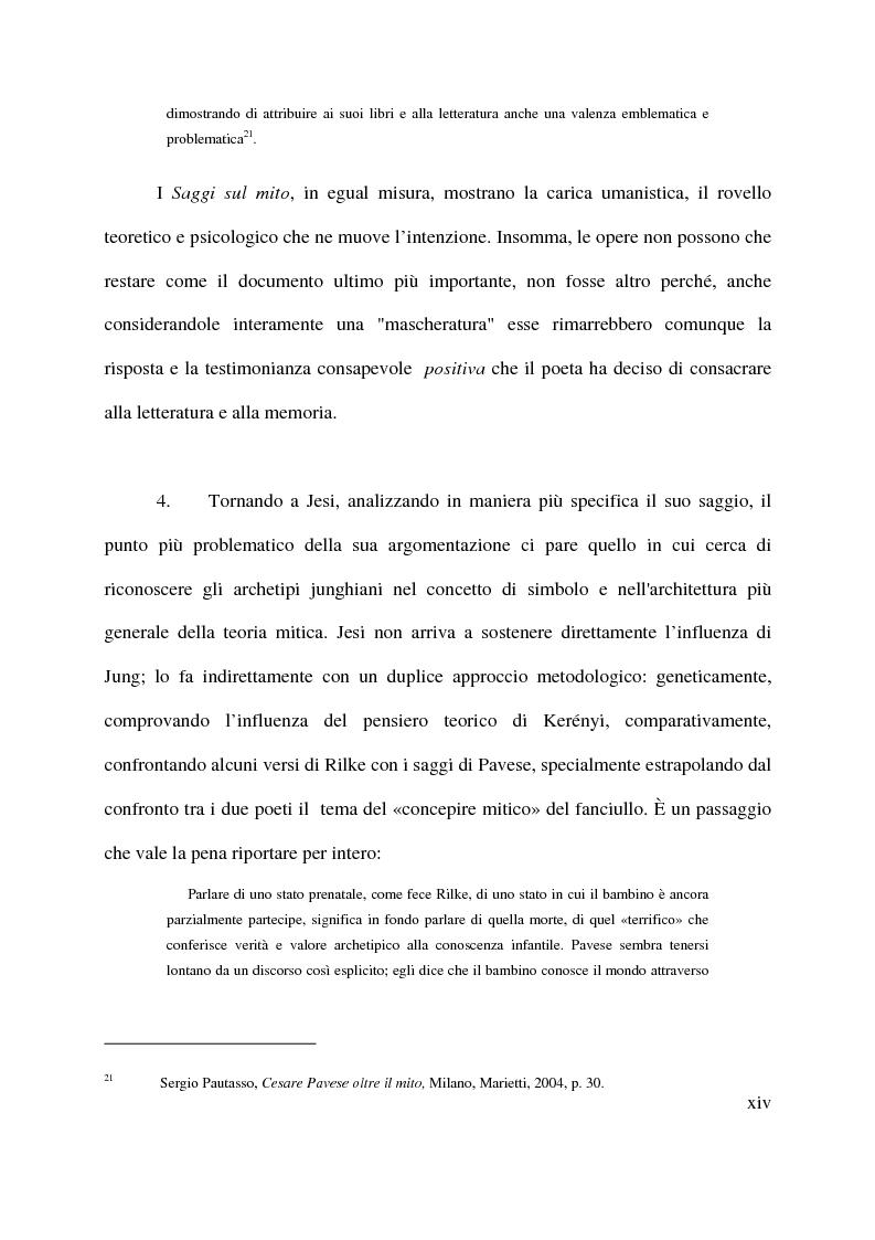 Anteprima della tesi: La macchina mitologica di Cesare Pavese, Pagina 14