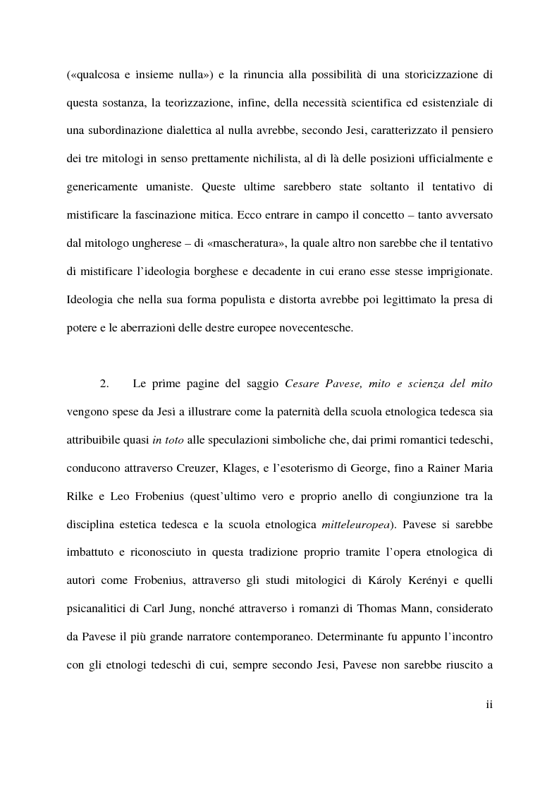 Anteprima della tesi: La macchina mitologica di Cesare Pavese, Pagina 2