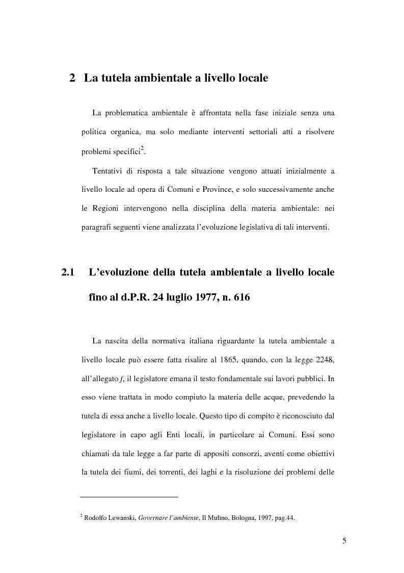 Anteprima della tesi: Il livello di governo locale nella tutela ambientale. Il ruolo di A.S.L., A.R.P.A. e Camere di Commercio, Pagina 3