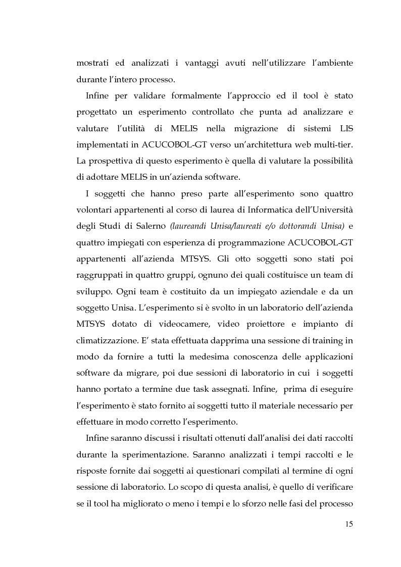 Anteprima della tesi: MELIS un ambiente per la reingegnerizzazione di interfacce legacy verso il web, Pagina 6