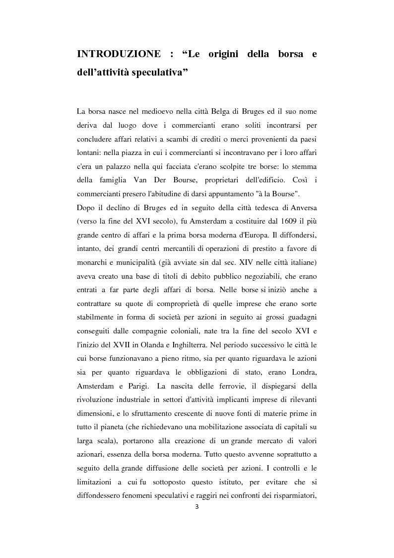 Anteprima della tesi: Analisi delle strategie di investimento attraverso il ''sentiment'' dei mercati finanziari, Pagina 1