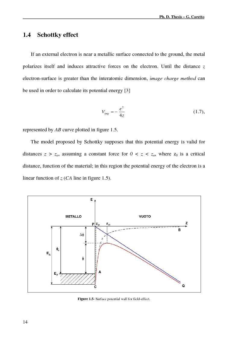 Anteprima della tesi: Studies of Photoemission from Metal Cathodes with Micro-Rough Surface: Schottky Effect and Plasma Production Influence, Pagina 12