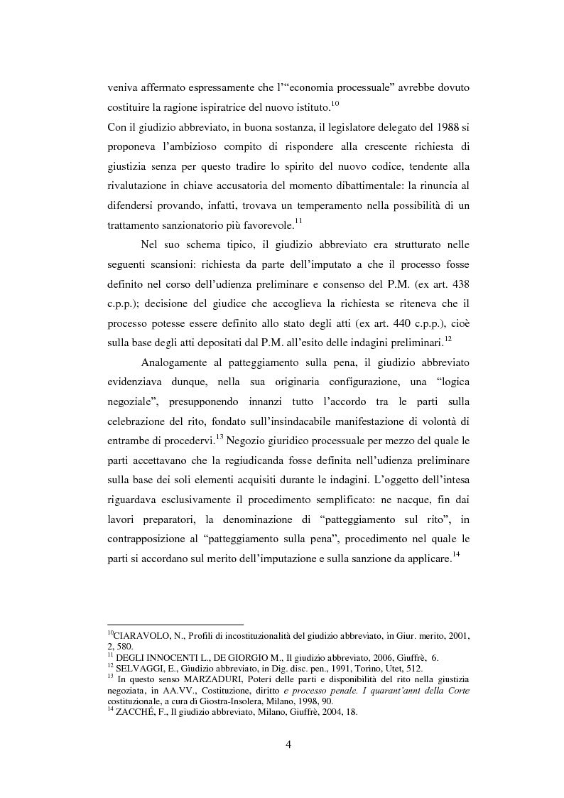Estratto dalla tesi: Il giudizio abbreviato