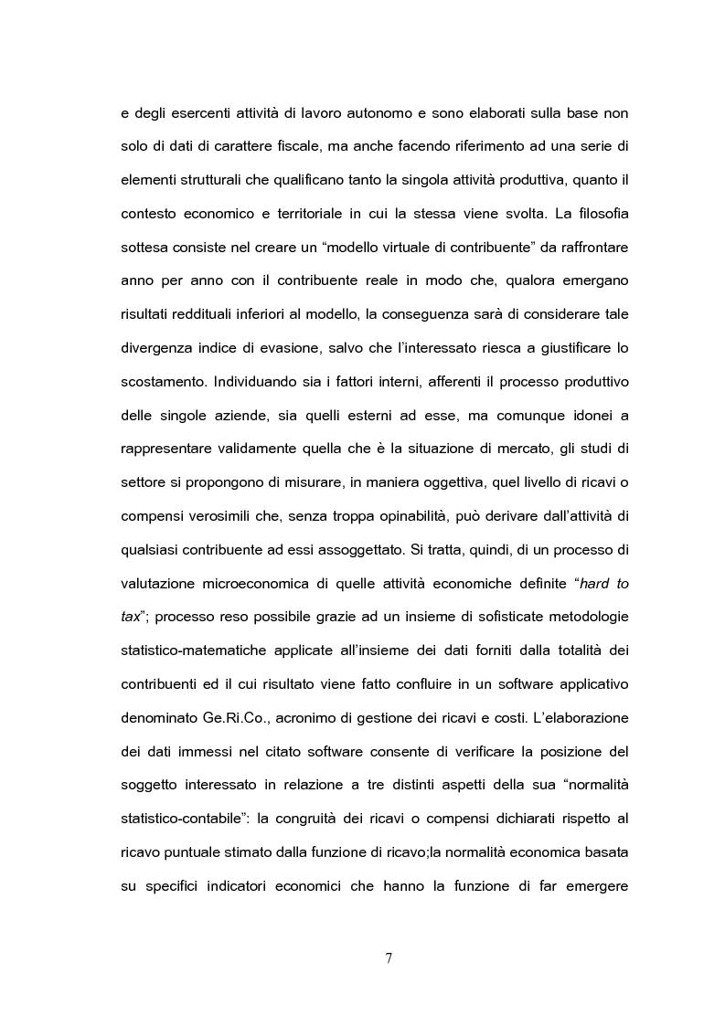Anteprima della tesi: Le criticità degli studi di settore dal punto di vista statistico, Pagina 4