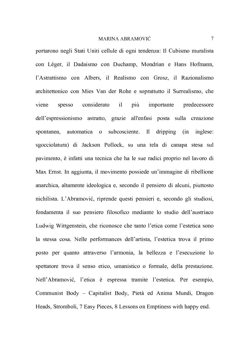Anteprima della tesi: Marina Abramovic, Pagina 5