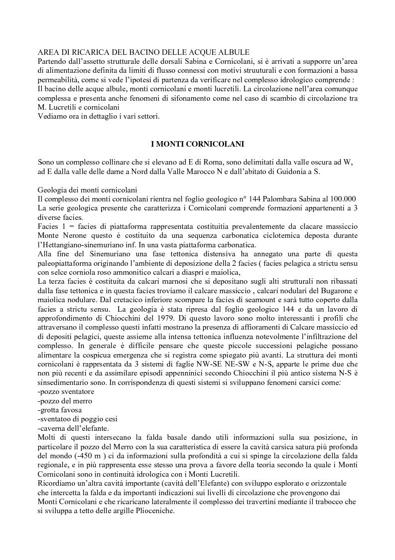 Anteprima della tesi: Bilancio idrologico del bacino delle acque albule di Tivoli, Pagina 2