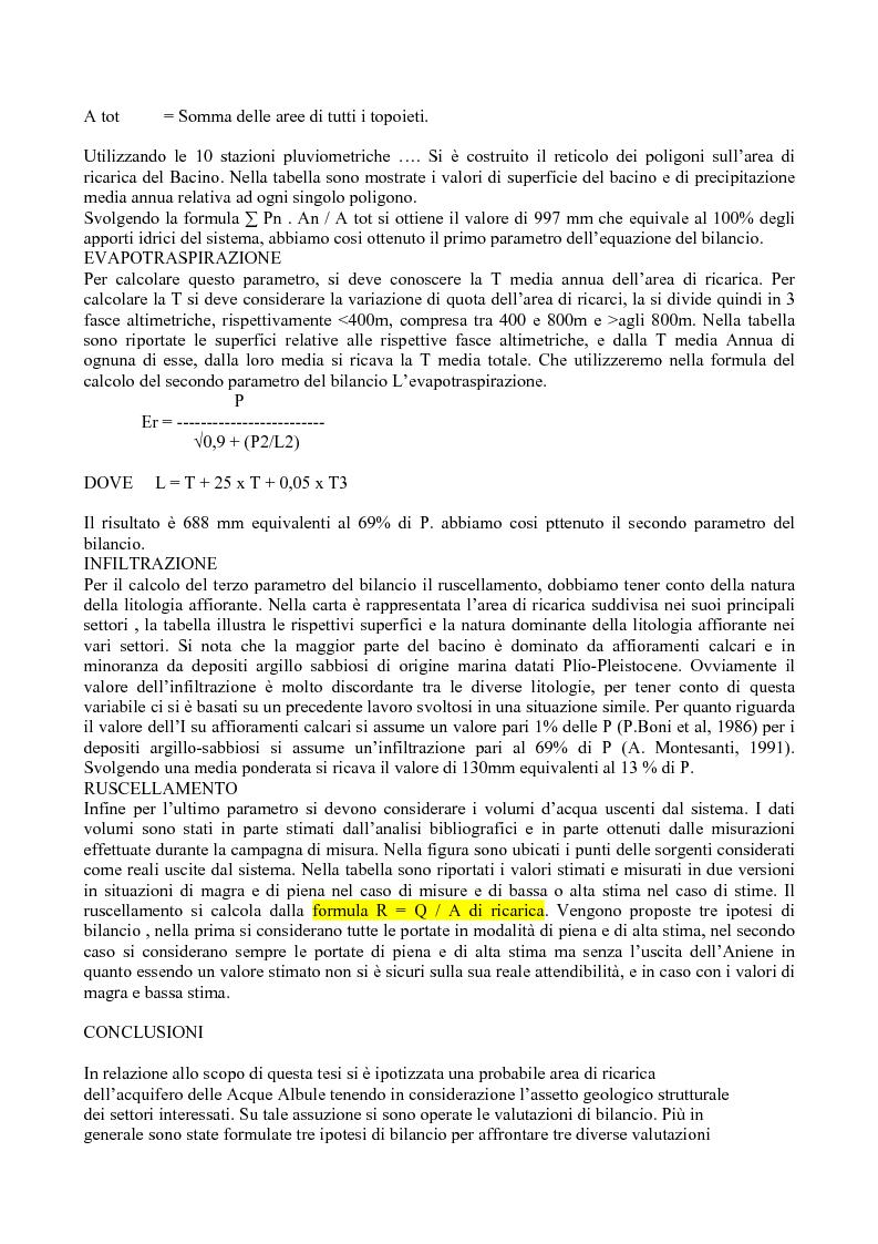 Anteprima della tesi: Bilancio idrologico del bacino delle acque albule di Tivoli, Pagina 7