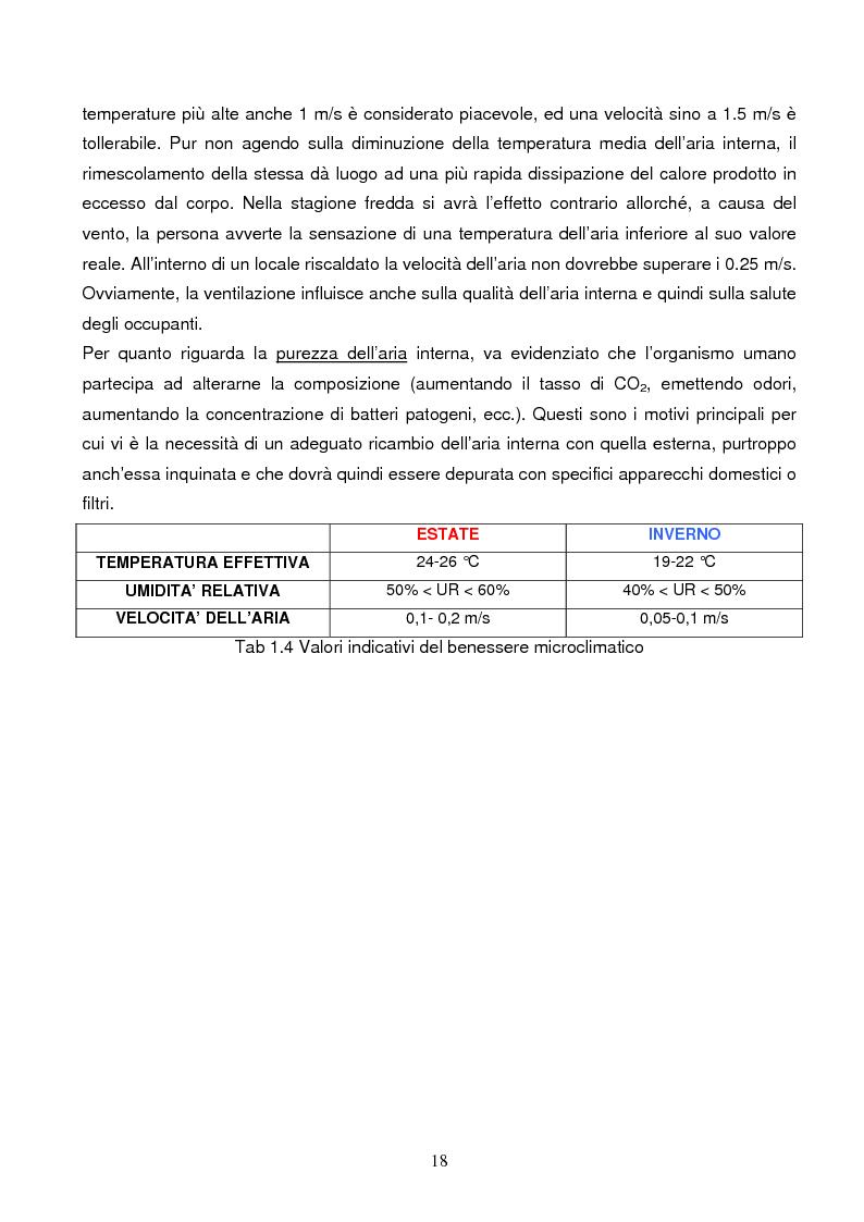 Anteprima della tesi: Energie rinnovabili e risparmio energetico in bioedilizia applicate a un caso studio di edificio bioclimatico (Casa solare Rosignano), Pagina 12