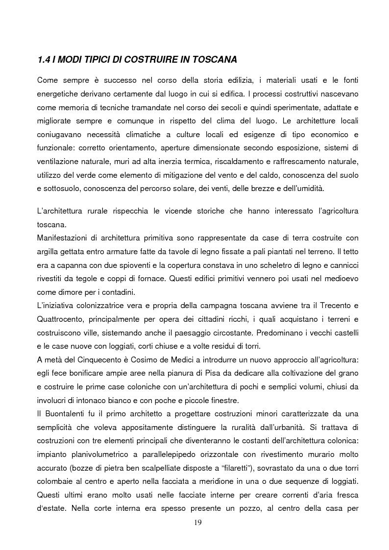 Anteprima della tesi: Energie rinnovabili e risparmio energetico in bioedilizia applicate a un caso studio di edificio bioclimatico (Casa solare Rosignano), Pagina 13