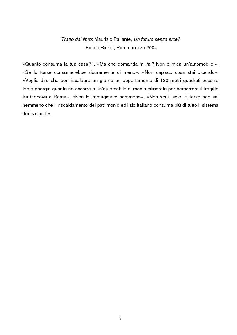 Anteprima della tesi: Energie rinnovabili e risparmio energetico in bioedilizia applicate a un caso studio di edificio bioclimatico (Casa solare Rosignano), Pagina 2